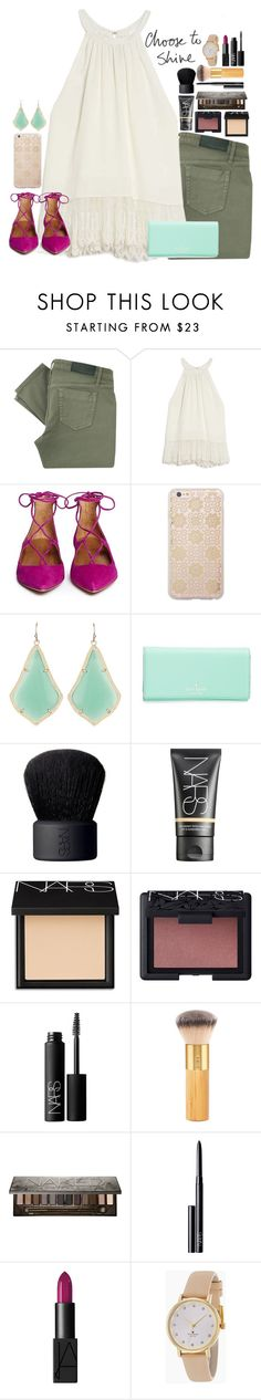 """""""•choose to shine•"""" by julesnewkirk ❤ liked on Polyvore featuring Victoria Beckham, OTTE, Aquazzura, Sonix, Kendra Scott, Kate Spade, NARS Cosmetics, tarte, Urban Decay and women's clothing"""