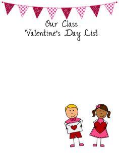 Valentine's Day Class List Freebie-Editable in PowerPoint