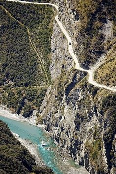The world's most dangerous roads: Skippers Road, near Queenstown, The South…