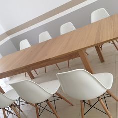 Algarve, Resort Decor, Stripes Interior Design, Clean, Fresh, Decoration, Decor, Eames Chairs, Living room, Dining room, grey, bege and white - Isabel Pires de Lima