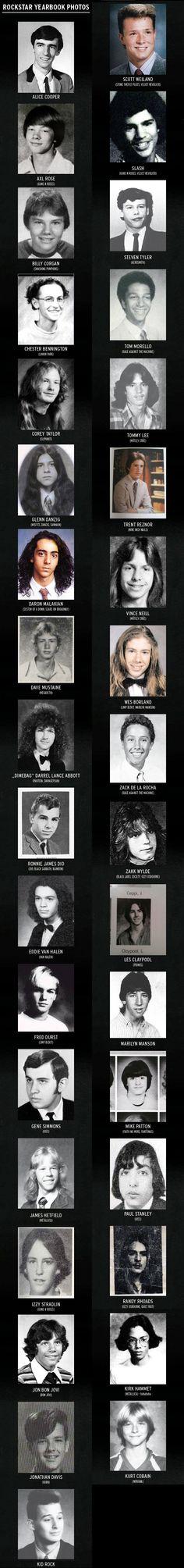 Rockstar Yearbook Photos, did Paul Stanley EVER have bad eyebrows?