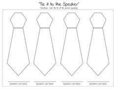"""General Conference """"Tie it to the Speaker"""" coloring page.  This is a great way to get your kids to pay attention to the speakers as they have fun coloring in the speakers ties."""