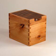 Handmade Wooden Box, Black Walnut, Knotty Cherry, Maple Hardwood on Etsy, $50.00