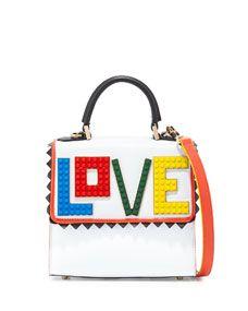 Les Petits Joueurs Alex Mini Rainbow Love Frame Bag