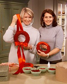 Red Beaded Wreath | Step-by-Step | DIY Craft How To's and Instructions| Martha Stewart