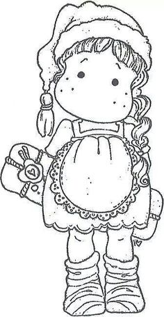 Risultato immagine per Coloring Page Christmas Tilda's Colouring Pics, Flower Coloring Pages, Coloring Book Pages, Coloring For Kids, Magnolia Colors, Magnolia Flower, Card Tags, Cards, Christmas Colors