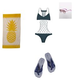 """Fetch swim"" by meanbarbie ❤ liked on Polyvore featuring Mikoh and MARBELLA"