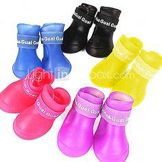 Cães Sapatos e Botas Prova-de-Água Primavera/Outono Cor Única Vermelho / Preto / Azul / Amarelo / Púrpura Borracha de 1103333 2016 por €5.28