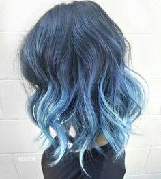 Blue+Balayage+For+Brunettes