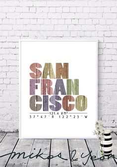 Your place to buy and sell all things handmade Printable Wall Art, Gifts For Friends, Decorating Your Home, Digital Prints, San, City, Frame, Artwork, Poster