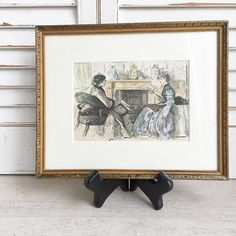 Antique Print George Du Maurier Framed and Matted