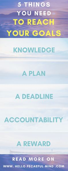 Get your 30-Day Productivity workbook on www.HelloPeacefulMind.com to crate an action plan and reach any of your goals!