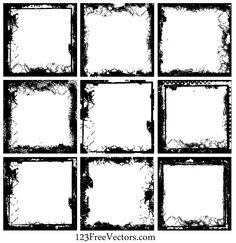 Grunge Frame Vector Free Download