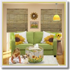 Home Sweet Home, sunflower decor by #zazzle I love this room set