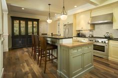 """Historic Plank"" Reclaimed Wood Floor used in the Kitchen"