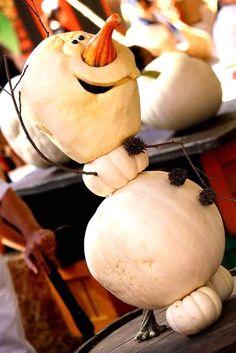 Olaf Pumpkin No Carving Decoration