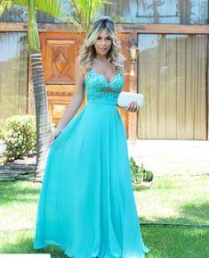 Vestido de festa!! Azul Tiffany !! Maravilhoso!!!