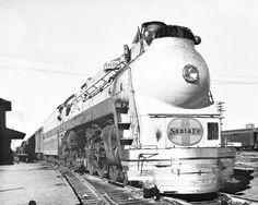 "Undocumented photo of Santa Fe's famed ""Hudson"" type Baldwin 4-6-4, ""Blue Goose""."