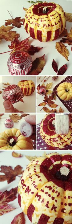 DIY Tunnocks Teacake inspired Glitter Pumpkins - great for Halloween (or any other Autumnal Biscuit Celebration! Glitter Pumpkins, Fall Pumpkins, Halloween Pumpkins, Diy Pumpkin, Pumpkin Recipes, Pumpkin Carving, Christmas Fancy Dress, Halloween Christmas, Biscuit Cake