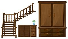 Free Vector Wooden Furniture | LDS...