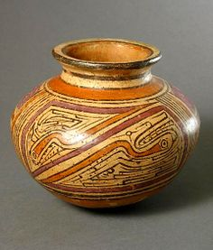 Cocle Terracotta Round Vase  Origin: Panama Circa: 500 AD to 1000 AD