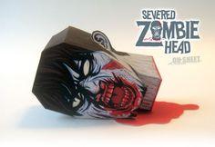 Zombie Head Papercraft.