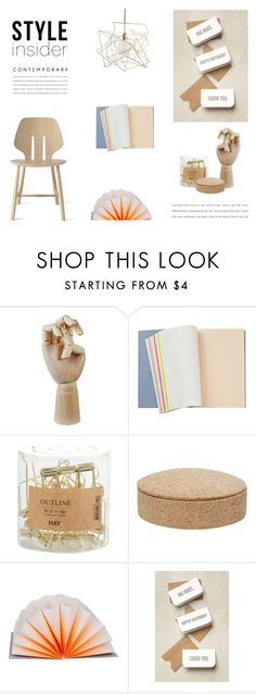 """Scandinavian Office"" by nmkratz ❤ liked on Polyvore featuring interior, interiors, interior design, home, home decor, interior decorating, HAY, contemporary, office and Minimalist"