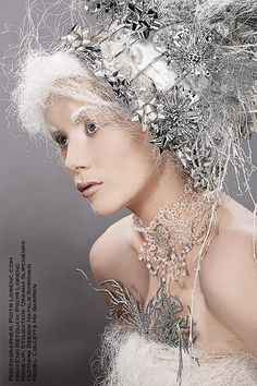 Oksana Slipchenko Make-Up/Styling #queen #ice #snow