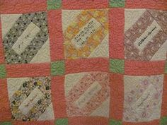 Quilt History Reports: Colville Washington Signature Quilt