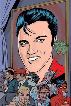 Unused X-Statix Mike Allred, Comic Art Community, Marvel, Graceland, A Comics, American Singers, Comic Books Art, Elvis Presley, Rock N Roll