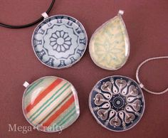 Wrapping Paper Upcycled Pendant Necklace {tutorial} {guest post} | So You Think You're CraftySo You Think You're Crafty