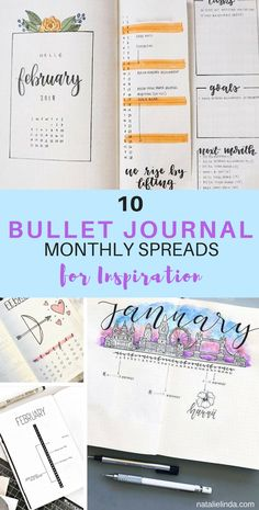 These 10 bullet journal monthly spreads are so inspiring! If you need new ideas on how to create your next monthly spread, and how to beautify your journal, look no further than the creations by these talented bullet journalists!