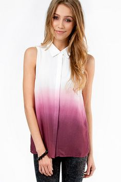 ***Foggy Ombrella Tank Top | http://swaychic.com/clothes/tops/blouses/50-shades-of-pink-blouse.html#.UdmotvnCaSo