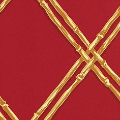 """Thibaut Wallcoverings' """"Bay Head"""" in red and gold; other colorways, too. From Croce Showroom, Suite 226 at The Marketplace Design Center."""