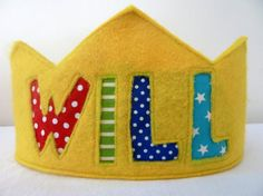 Felt Crown Birthday Crown - Personalized - Yellow $20