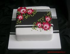 This cake I made for my husband.  It is very easy.  And I did'nt use any cutters.