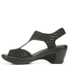 Jbu Women's Chloe Wedge Sandals (Black) - 11.0 M