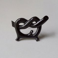 Antique Victorian Love Knot Brooch. Whitby Jet. by TheDeeps