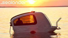 Sealander - Schwimmcaravan - Grenzenlos mobil by SEALANDER - Der Schwimmcaravan. Grenzenlos mobil auf Land und Wasser: Der amphibische Caravan SEALANDER kann sowohl als gezogener Wohnanhänger auf Land, als auch mittels Außenbordmotor, selbstständig über Wasser bewegt werden.