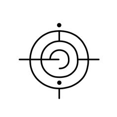"""The Sigil Workshop """"i am free of this pain."""" Draw this symbol, or trace it with a finger, on your skin and over any area that is causing you pain. If you have any essential oils, and are free from sensitive skin, draw this sigil with an oil that helps alleviate pain for an added bonus."""