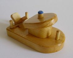 Wooden Paddle Tug Boat, Rubber Band Powered Bathtub Wood Toy, Jacobs Wooden Toys