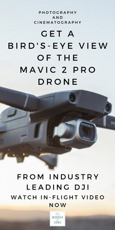 The Mavic 2 Pro camera drone has been released by DJI, the industry leaders in drone camera technology. Watch the in-flight video at Wonder & Sons. Drones, Drone Quadcopter, Aerial Photography, Camera Photography, Aerial Camera, Camera Drone, Creative Class, Camera Equipment, Good Find
