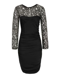 Moschino Cheap and Chic  Black Lace Sleeve Dress