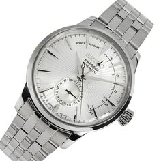 What things do you think about when buying a watch? Does it need to be huge? Does it have to be small? Does it have to be Rolex? Or any watch will do as long as it tells you the proper time? Mens Watches Online, Best Watches For Men, Cool Watches, Men's Watches, Stainless Steel Bracelet, Stainless Steel Case, Cartier, Seiko Presage, Mechanical Watch