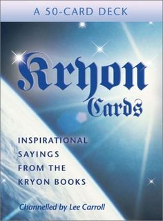 Kryon Cards (Large Card Decks) by Lee Carroll, http://www.amazon.com/dp/140190050X/ref=cm_sw_r_pi_dp_YE.brb15XP6SD