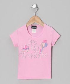 This Pink 'It's My Birthday' Rhinestone Tee - Infant, Toddler & Girls is perfect! #zulilyfinds