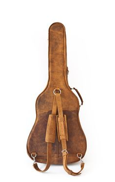 This is such sweet looking leather guitar case from @Christina & Jackson Post.