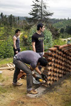 Galería - Estudiantes construyen muros de ladrillo en disposición algorítmica - 17