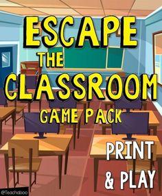 Escape The Classroom Game Pack Freebie Escape The Classroom, Escape Room For Kids, Escape Room Puzzles, Future Classroom, Room Kids, Reading Activities, Classroom Activities, Vocabulary Activities, Classroom Ideas