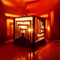 Make a Multifaceted Cardboard Lamp